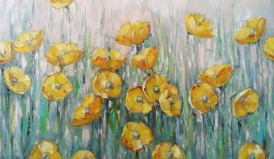 Картина «Поцелуй солнца» живопись для современных интерьеров Украина купить картину цветы