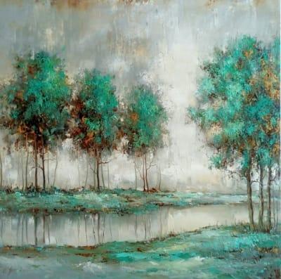 Картина абстракция «Весенний дождь» купить живопись для современных интерьеров Украина