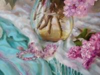 Картина цветы «Сирень» купить живопись для современных интерьеров Украина