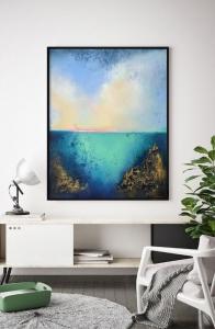 Абстрактная картина морской пейзаж «Из глубины» купить живопись маслом Украина