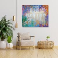 Абстрактная картина «MIX my DESIRES» купить живопись в современный интерьер Украина