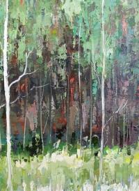 Картина маслом летний пейзаж «Утро» купить картины для современных интерьеров Украина