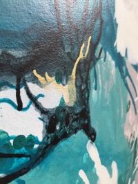 Абстрактная картина «Коралловый рай» купить живопись для современных интерьеров Украина