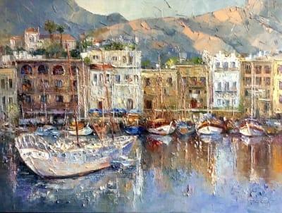 Картина маслом пейзаж «Остров Крит» купить живопись Украина