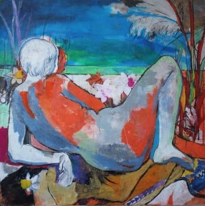 Картина для современных интерьеров абстракция «Island» купить живопись Киев