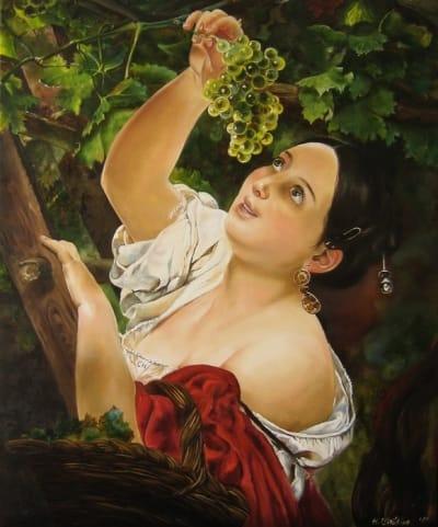 Картина копия Брюллова «Итальянский полдень» купить живопись для современных интерьеров Украина