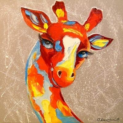 Картина маслом «Жираф» - современная живопись Украина
