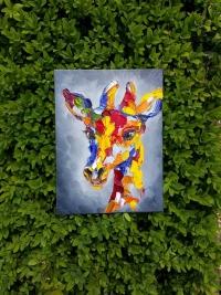 Картина анималистика «Жираф» картины для современных интерьеров Киев