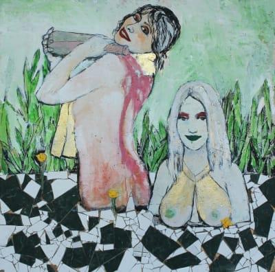 Картина для современных интерьеров абстракция «Мадонны. Нимфы» купить живопись Киев