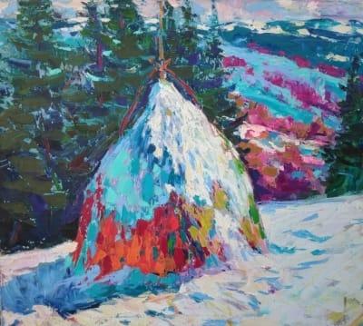 Картина «Карпаты зимой»