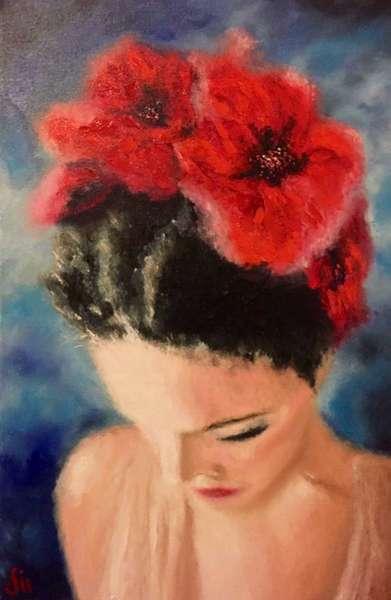 Картина «Цветочный ангел»