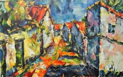 Картина «Летняя улочка»