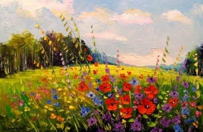 Картина маслом «Лето, лето» - живопись для современных интерьеров Украина