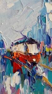 Картина «Одинокий троллейбус»