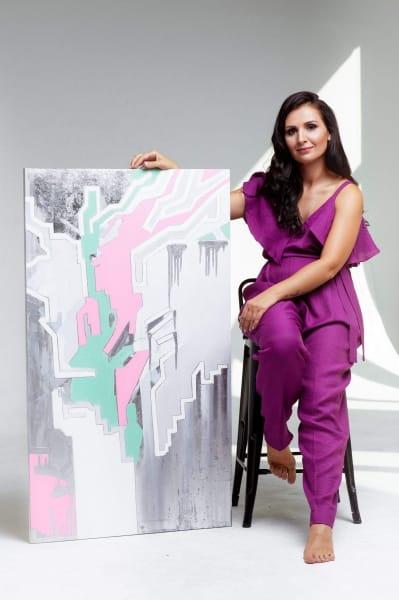 Картина абстракция маслом Киев «Love code» - картины для современных интерьеров