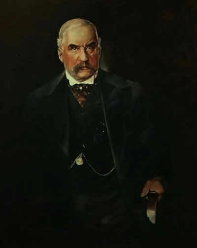 Картина «Джон Пирпонт Морган», многослойная техника живописи