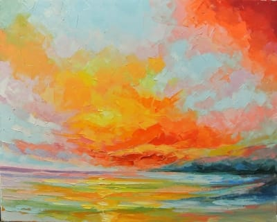 Картина «Морской закат» 2