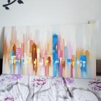 Картина маслом городской пейзаж «Нью-Йорк» купить живопись для современных интерьеров Украина
