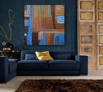 Картина акрил абстракция «Осеннее настроение» живопись для современных интерьеров Киев