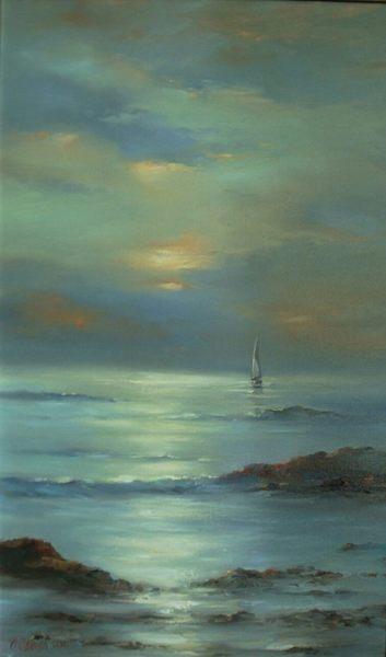 Картина «Парусник на море»