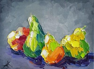 Картина «Груши на столе»