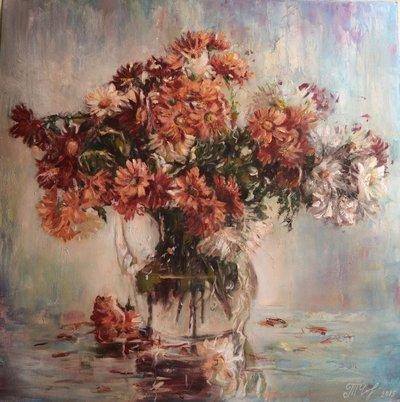 Картина цветы «Полевой букет» купить живопись Украина