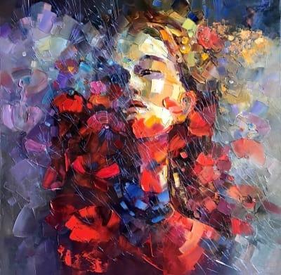 Картина маслом «Примавера» купить живопись Украина