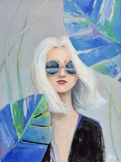 Картина для детской комнаты «Про океан, который видит Она» купить картину маслом Киев