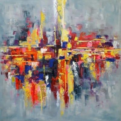 Картина маслом абстракция «Радуга эмоций» - современная живопись Украина