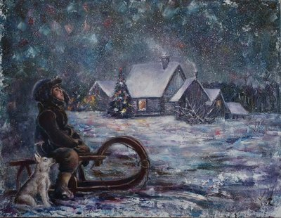 Картина «Рождественская ночь» купить живопись Украина