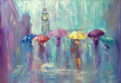 Картина «Романтический дождь»