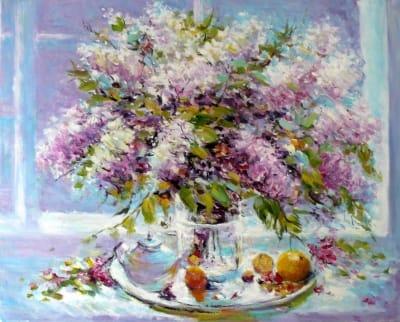 Картина маслом цветы Украина «Сирень» - купить живопись