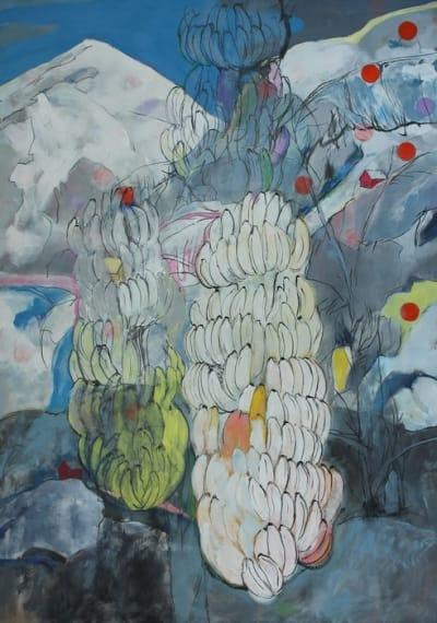 Картина для современных интерьеров абстракция «Snowbreak» купить живопись Киев