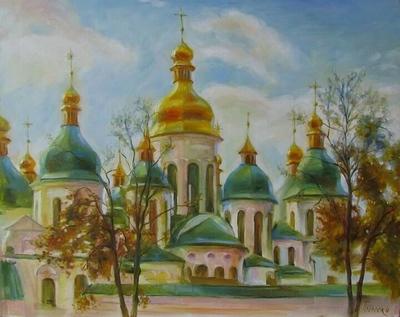 Картина «Виды Киева. София Киевская» 4