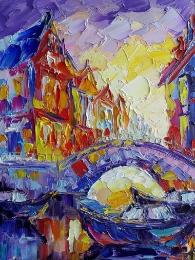 Картина «Закат в Амстердаме»