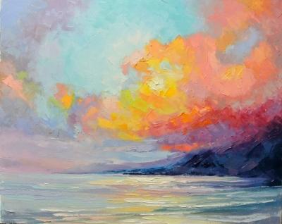 Картина «Закат у моря»