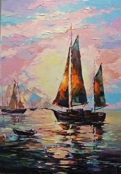 Картина «В море»