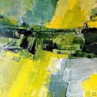 Картина абстракция маслом «Весна» живопись для современных интерьеров Украина