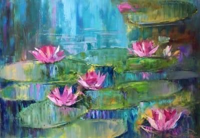 Картина «Лилии. Звуки природы»