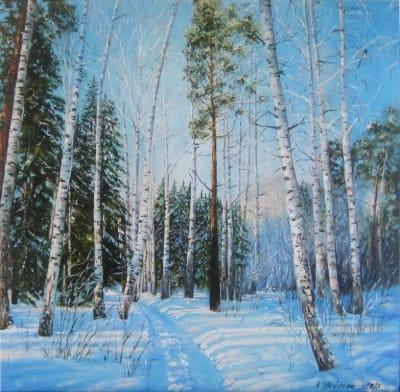 Картина «Зимний лес» 2