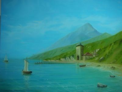 Картина «Афон. Иверский монастырь»