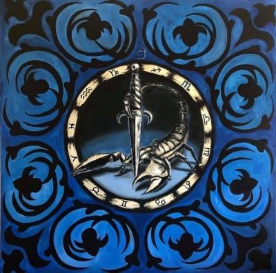 Картина маслом «Скорпион» купить живопись для современных интерьеров Киев