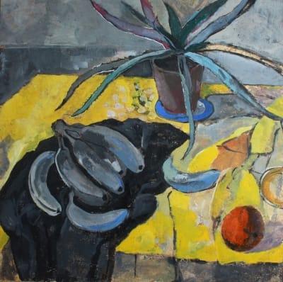 Картина для современных интерьеров натюрморт «Алоэ» из серии «Желтая еда» купить живопись Киев