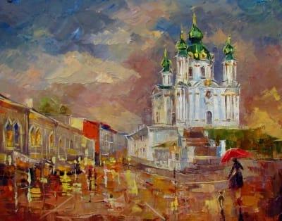 Картина «Андреевская церковь»