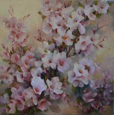 Картина цветы «Азалии» купить живопись для современных интерьеров Украина