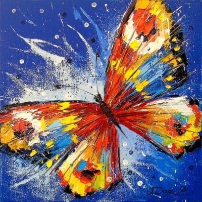 Картина маслом «Бабочка» картины для современных интерьеров Украина