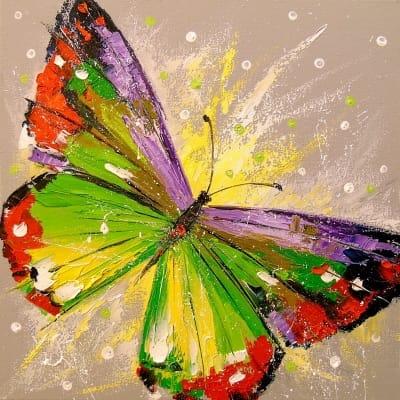 Картина маслом детям «Бабочка» - картины для современных интерьеров Украина - живопись анималистика
