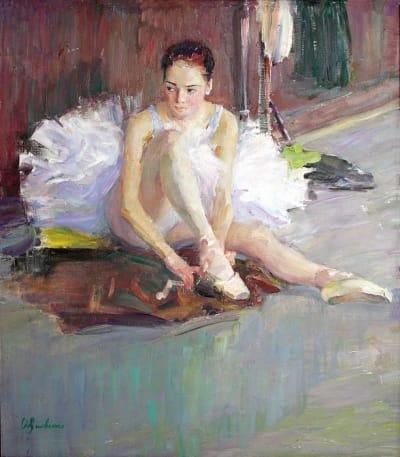 Картина маслом «Балерина» купить живопись для современных интерьеров Украина