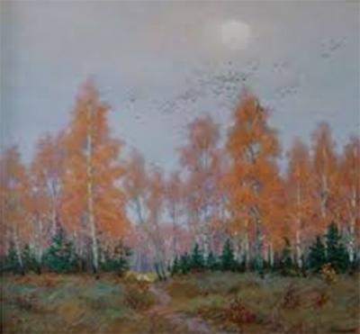 Картина «Березы. Осень»