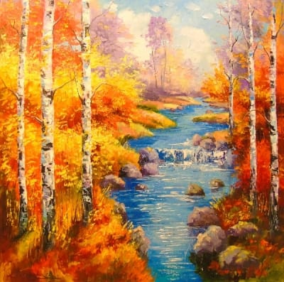 Картина «Березы у ручья»